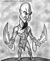 Kratos Sketch by lepeART