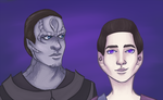 Damar and Weyoun by kurokiwi