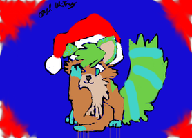 Free Christmas  Commish by FoxiArtist