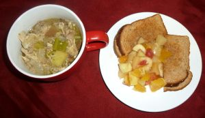 Soup an' sammich with basic recipe by lupagreenwolf