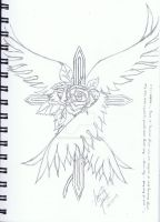 Winged Rose and Cross by raelyn-earfalas