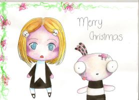 Lenore and Ragamuffin and card by Dark--chan