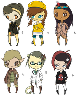 ((Points)) Open Chibi adoptables! by JellyTheTangrowth