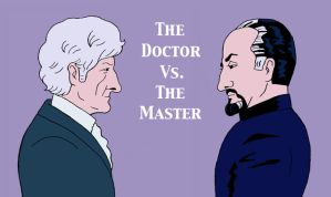 The Doctor Vs. The Master by rocketdave