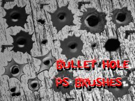 Bullet Hole Photoshop Brushes by petermarge