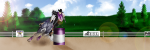 Western Horse Trials-Barrel Racing by Shining-Spurs-Ranch