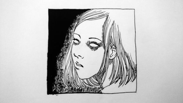 Attempt at Making a Junji Ito-esque Drawing by signorinacessi