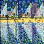 starry night after vincent van gogh naive art rafi by shharc