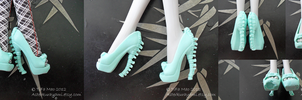 Monster High Shoes - Mint by TifaTofu