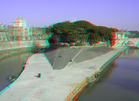 Rome 17 3D Anaglyph by yellowishhaze