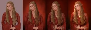 Cersei - drawing process by ynorka