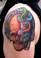 Finished Bio Skull by JakubNadrowski