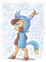AT: Ari The Chespin by PitchBlackEspresso