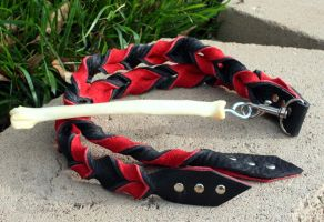 Bullhide and Coyote Bone Flogger #147 by NaamahFeral