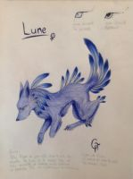 Lune (new character) by AurorynDragon