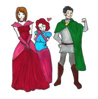 Princess Marti with Prince Johnny and Lady Mary by plumcake-mery