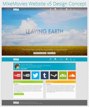 MikeMovies Website v5 Design Concept by MikeMovies