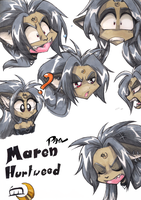maren expressions by Pain-hyena