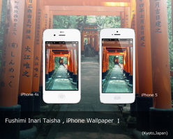 Fushimi Inari Taisha - iPhone Wallpaper 1 by f79h