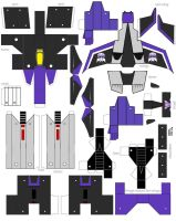 papercraft skywarp animated by minibot-gears