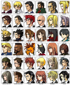 Final Fantasy 7 Character Collage (Before Crisis) by Lord-Zachael