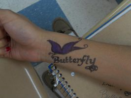Butterfly Sharpie Tattoo by Toast007