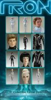 Tron and Tron:Legacy Tonner Collectible Dolls by bassgeisha