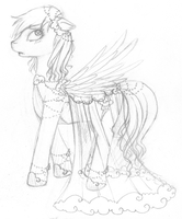 Rainbow Dash - Formal Cloud Dress by tinuleaf
