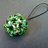 Slytherin Chainmaille Phone Charm by Rosie-Periannath