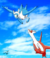Latios and Latias by Seiryu6