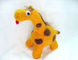 The slight mullet Giraffe by P-isfor-Plushes