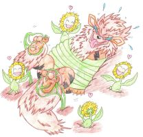 Arcanine Tickle Torture Tickled By The Sunfloras by KnightRayjack