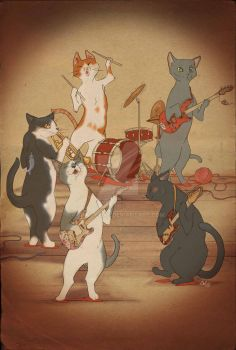 Cats rock! by chaf-chaf