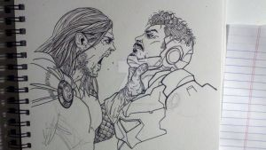 Thor vs Iron Man by Essig-Peppard