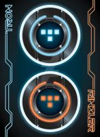 TRON and Rinzler poster by Romancylvania