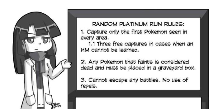 Random Platinum Nuzlocke Run: Rules by EmeraldGlee