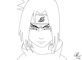 Angry Sasuke - Lineart by Midnight-Calling