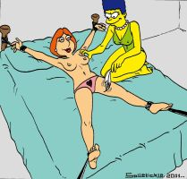Marge tickles Lois color by solletickle