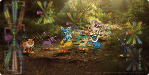 Pokemon Card Eeveelution Play Mat!!!! by Alpha-mon