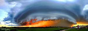 September Striations Panorama by FramedByNature