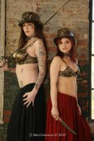 Steampunk bras and hats by organicarmor