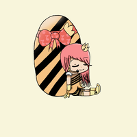 re-upload chara Hoshi with egg by ansjovisjj