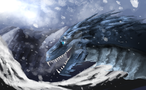Winter dragon by Please-be-careful