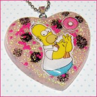Homer Simpson Necklace by bapity88