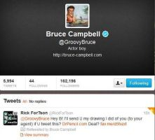 Bruce Campbell Re-Tweeted my drawing by Doctor-Pencil