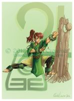 Sailor Avatar: Earthbender Makoto by ExiledChaos