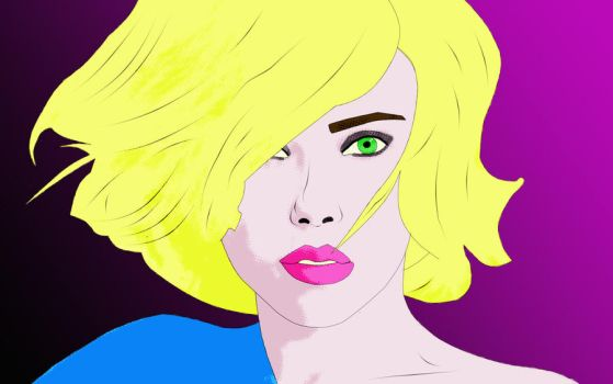 Scarlett Johansson pop art by violetlight