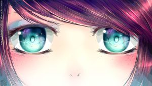 My eyes are galaxies [EDITED] by AshiSilverSoul
