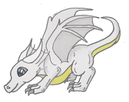 [Request] Lil White Dragon by DreamDrifter91