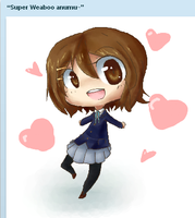 Yui from K-On iscribble thing by happysmily